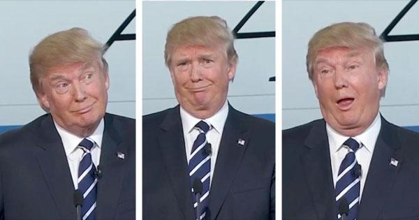 trump weird photos ile ilgili görsel sonucu